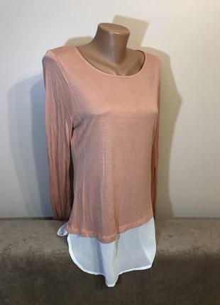 Удлиненная блузка кофточка тонка блуза