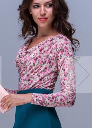 Милейшее цветочное дизайнерское боди- блуза  jet!
