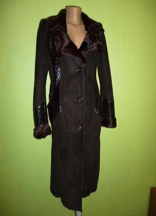Шикарная натуральная пальто -дубленка большая скидка на пару дней
