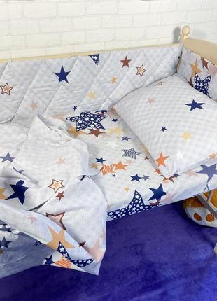 Постельное белье и бортики в кроватку