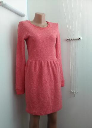 Купи две вещи = каждая по 99! плотное модное платье ярко коралловый цвет молния на спине