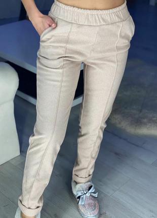 Тёплые брюки (шерсть 30% ) твид