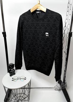 Брендовый мужской черный свитшот karl lagerfeld
