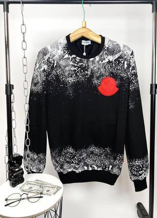 Брендовый мужской черный свитшот moncler × palm angels