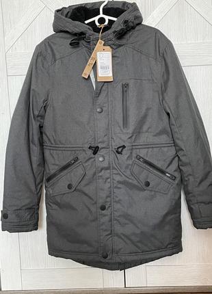 Новая  удлинённая  курточка-парка, размер s. bonobo jeans