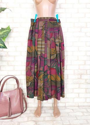 Фирменная geiger нереально красивая тёплая юбка миди плиссе со 100% шерсти, размер 2-3хл