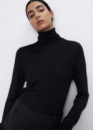 Базовый женский черный гольф. большой размер