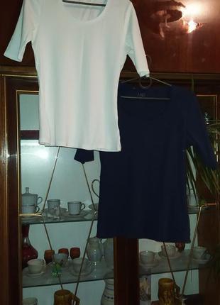 Набор футболок, синяя, белая