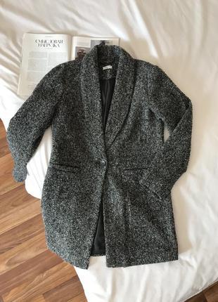 Серое пальто jacqueline de yong
