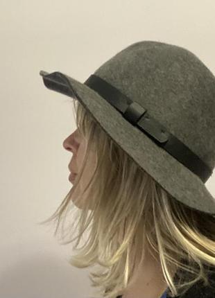H&m стильная серая шляпа (100 % шерсть) как новая