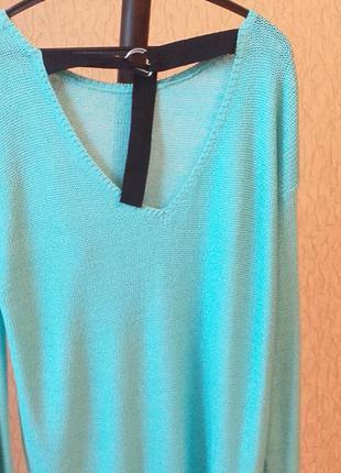 Пуловер с переплётом на спине