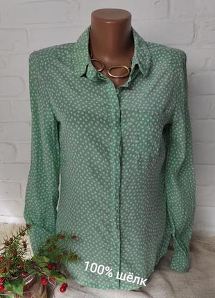 100% шелковая рубашка