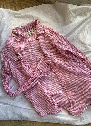 Рубашка в полоску colin's прозрачная розовая