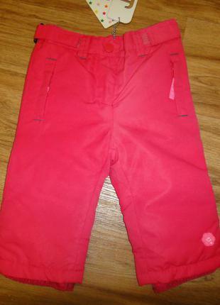 Демисезонные штаны штанишки брюки джинсы на девочку р. 68 frendz на синтепон
