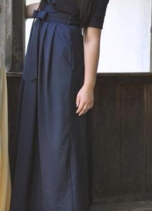 c9806d8d500970e Дизайнерское темно- синее платье в пол Piena, цена - 750 грн ...