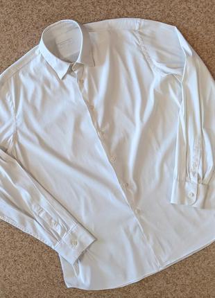 Классическая белая рубашка prada