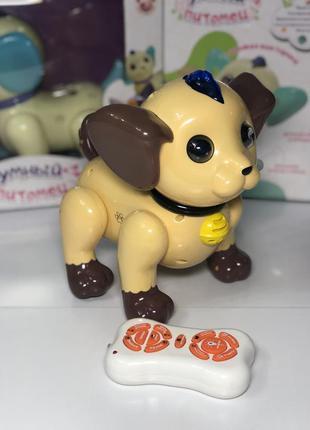 Умный питомиц  интерактивный щенок с пультом управления
