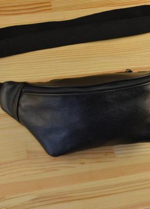 Сумка бананка с натуральной кожи / сумка через плечо на пояс барсетка клатч кожаная