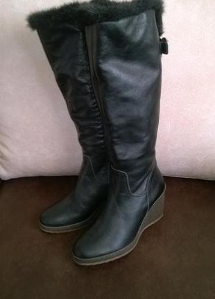 Новые сапоги зимние из натуральной кожи 35-36 размера (стелька 22,5 см)