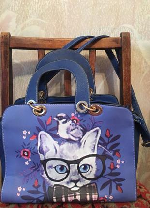 Кожаная сумка annawolf