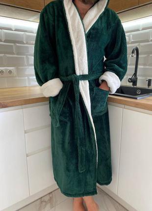 Стильный мужской махровый халат