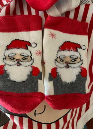 Носочки носки новогодние махровые шкарпетки новорічні махра безшовні бесшовные