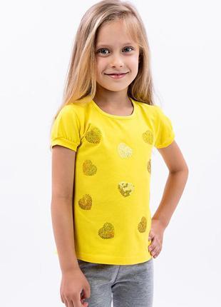 Блуза, футболка дитяча, лимонна