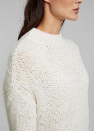 Новый молочный свитер с альпакой италия