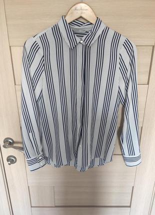 Рр с-м. белая полосатая блузка рубашка с длинным рукавом