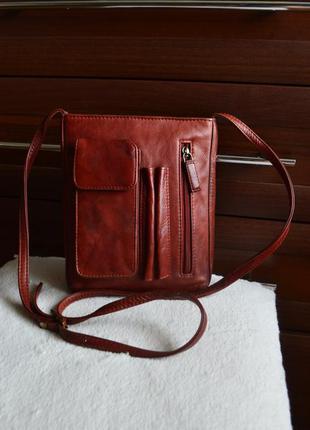 Visconti кожаная сумка на длинном ремне.