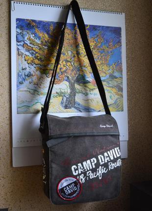 Camp david мужская сумка на длинном ремне