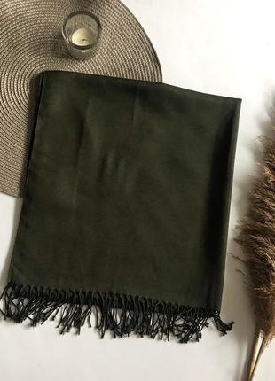 Легкий шарф / платок зелёный / хаки