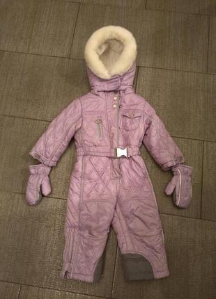 Зимний комбинезон chicco на девочку 80 см.
