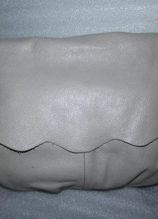 Стильная большущая сумка хобо 100% натуральная зернистая кожа