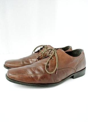 Стильные классические мужские фирменные туфли next. размер 7/41-42.