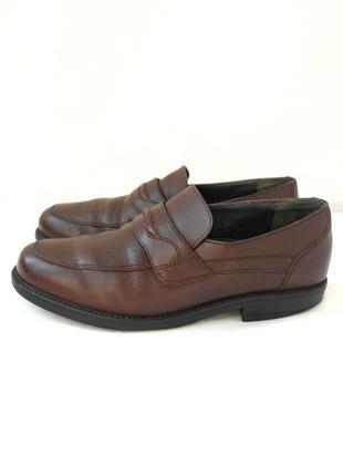 """Стильные классические кожаные унисекс туфли, пенни лоферы """"fretz men"""". размер uk7/ eur 40-41."""