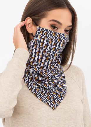 Захисна двошарова маска-хустина