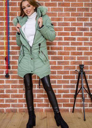 Парка зимняя куртка оливкового цвета- xxs xs s 42/44 р