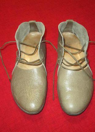 Кожаные туфли летние ботинки trippen