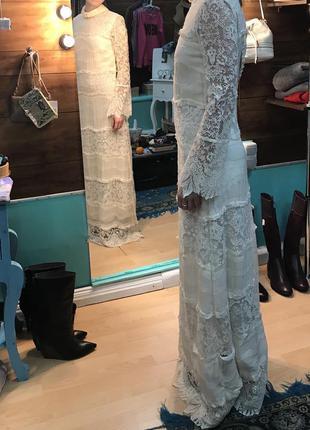 Кружевное свадебное платье h&m conscious exclusive