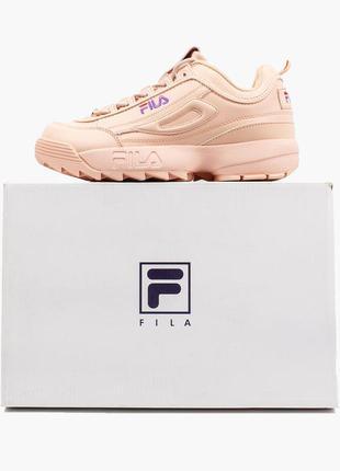 Шикарные кроссовки fila disruptor 2 pink