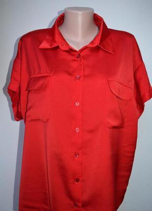 Красная блуза свободного кроя от next