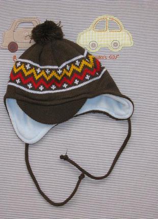Вязаная шапка размер 45-47