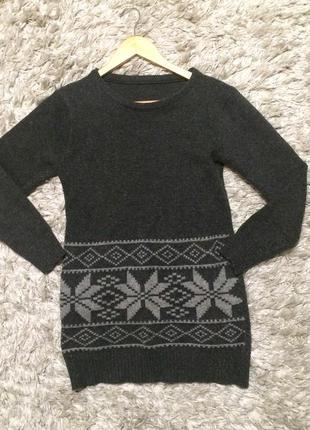 """Очень тёплый свитерок в принт """"норвежская звезда"""""""