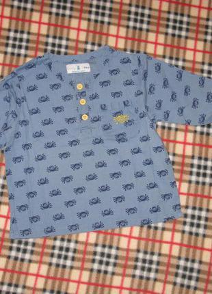 Кофточка*рубашка на 12-18 мес.