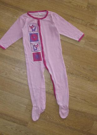 Человечек*пижама*слип на 2-3 года