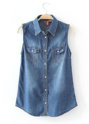 Джинсовая рубашка, футболка , майка
