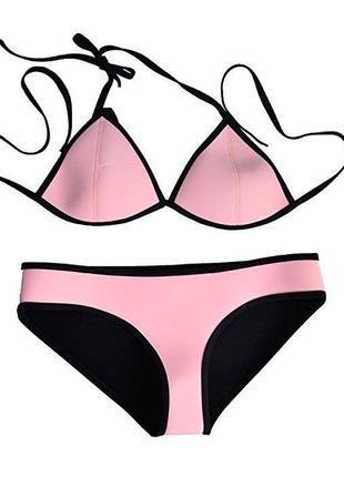 Купальник раздельной розовый triangl pink small