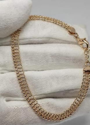 Шикарний позолочений браслет