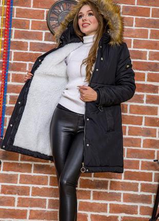 Куртка зимняя на меху очень тёплая - 42 44 есть цвета